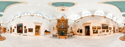 panoramic photo of the organ gallery at the MAG