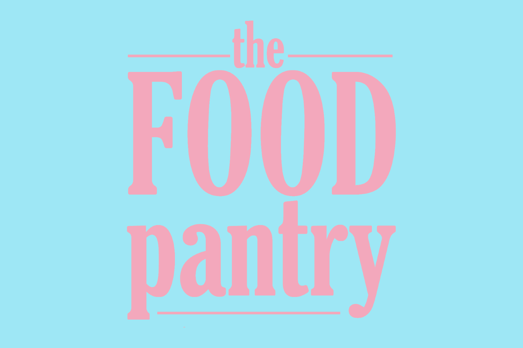 "Image of ""The Food Pantry"" written in stylized text."