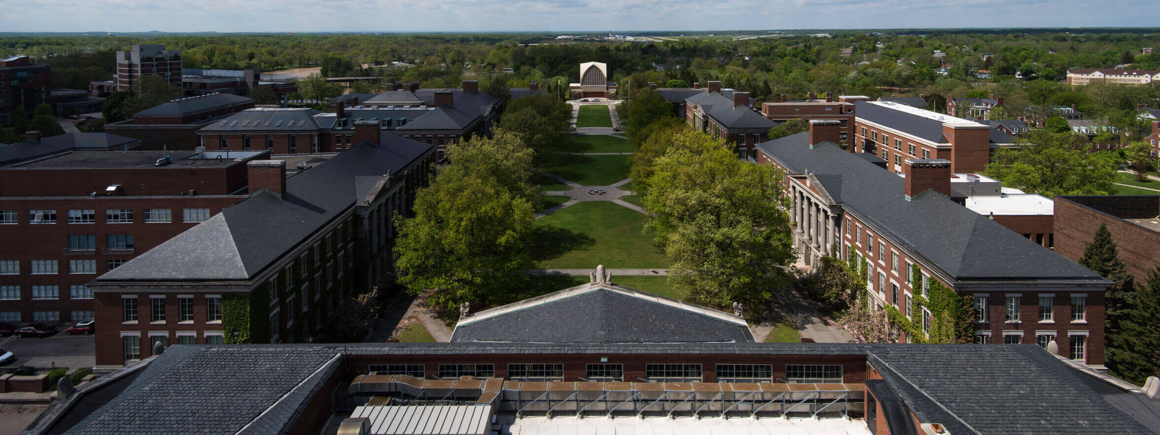 Above view of the University Quad