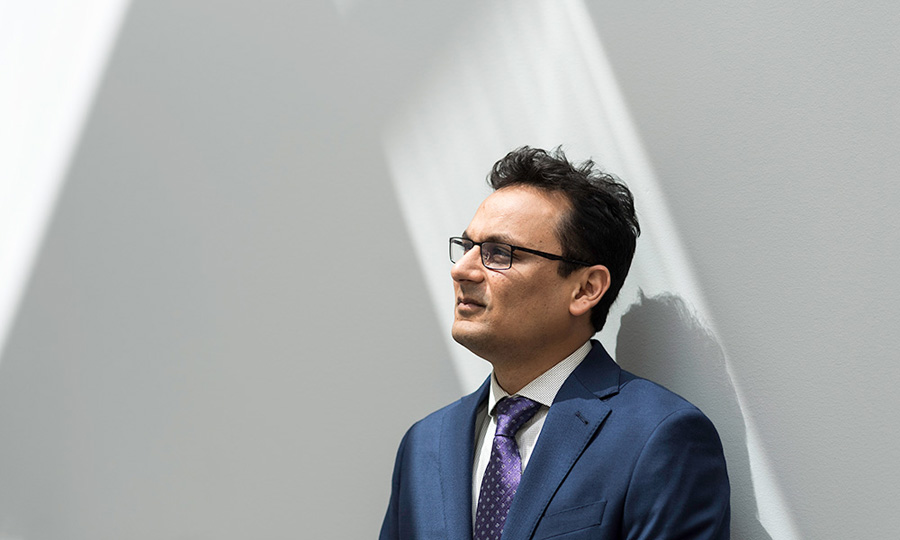 Ehsan Hoque portrait, AI researcher at University of Rochester