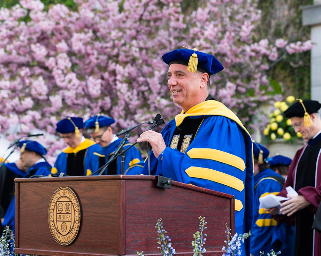 University of Rochester graduation ceremony speaker
