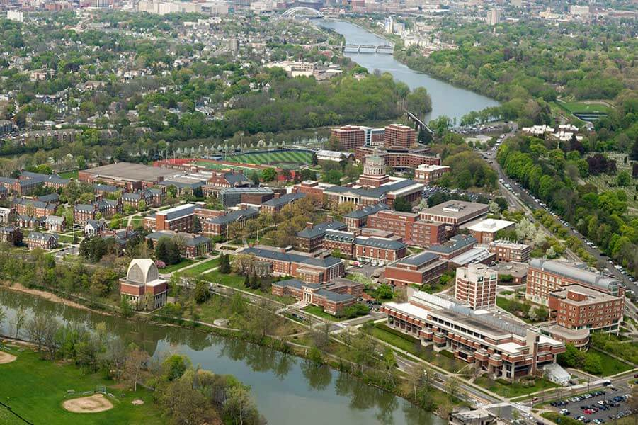 University of Rochester aerial image